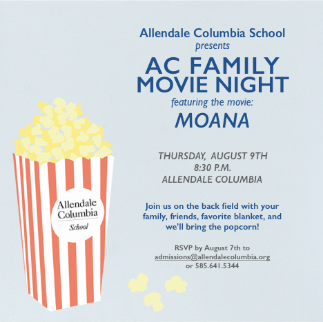 Invitation to AC Family Movie Night